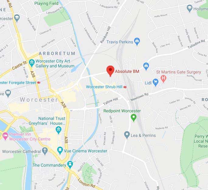 Absolute BMW Worcester Google Maps Address Finding us